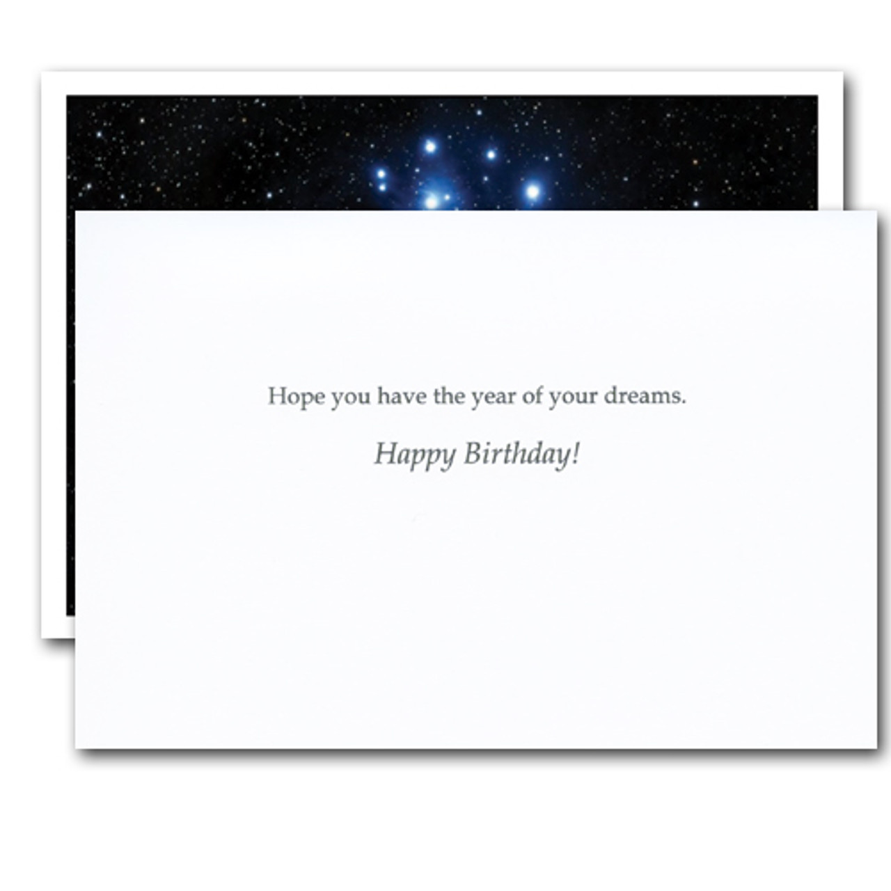"""Inside of van gogh quotation business birthday card has the words """"Hope you have the year of your dreams. Happy Birthday!"""""""