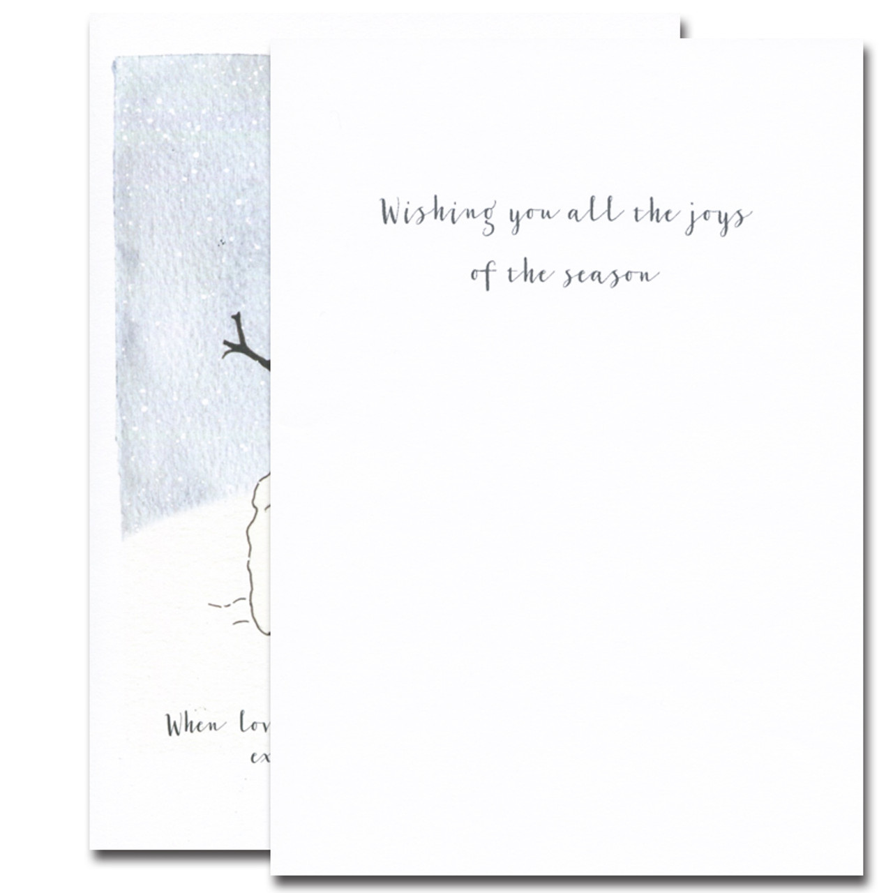 Masterpiece Holiday Card - inside reads, Wishing you all the joys of the season