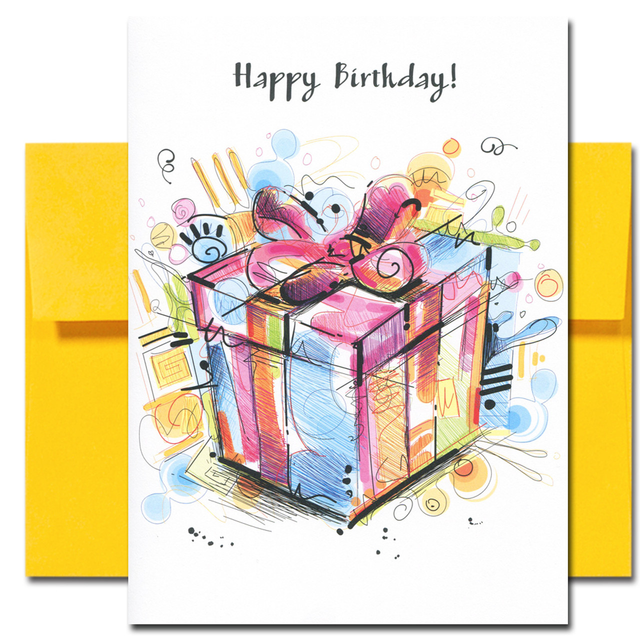 Birthday Cards: Celebration Assortment- box of 10 cards & envelopes