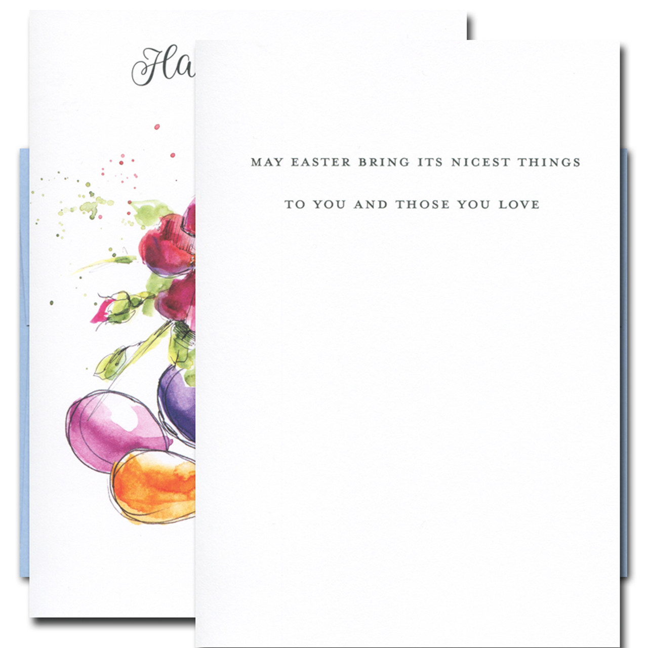 Easter Flowers card inside reads: May  Easter bring its nicest things to you and those you love