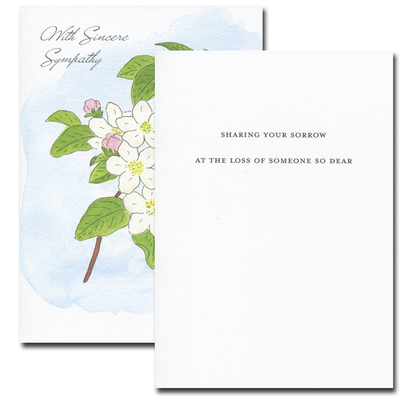 Sympathy Card: Apple Blossom
