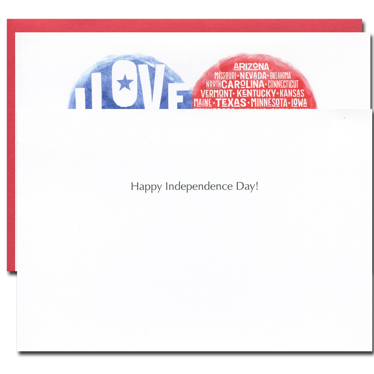 July 4th: I Love My Country - box of 10 cards & envelopes