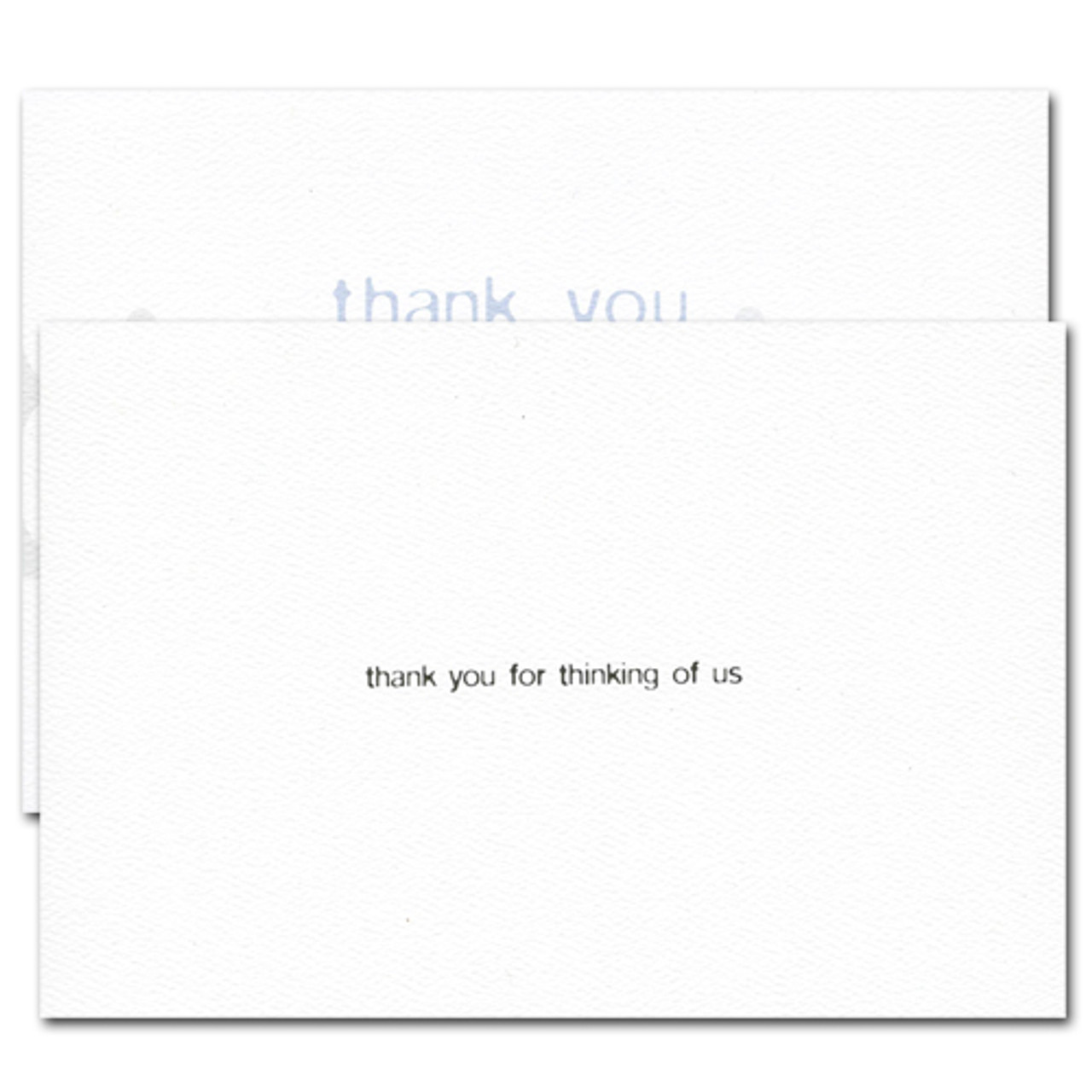 Triple Referral Thank You Card. Inside reads: thank you for thinking of us