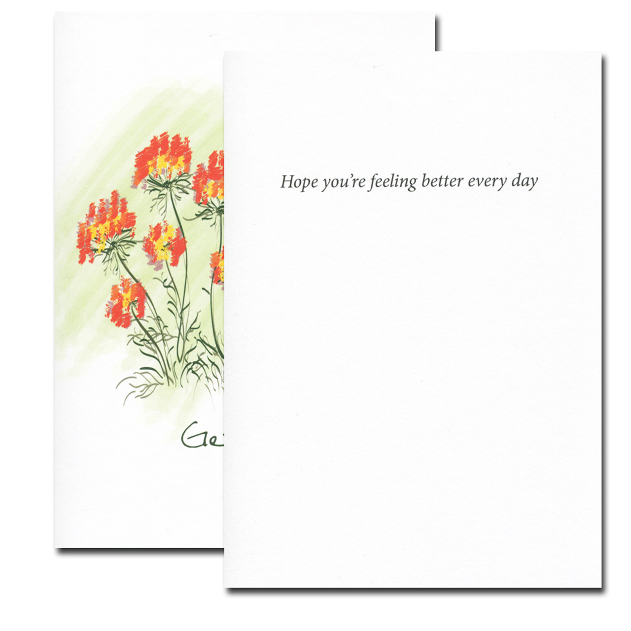 Get Well Card- Butterfly inside reads: Hope your feeling better ever day