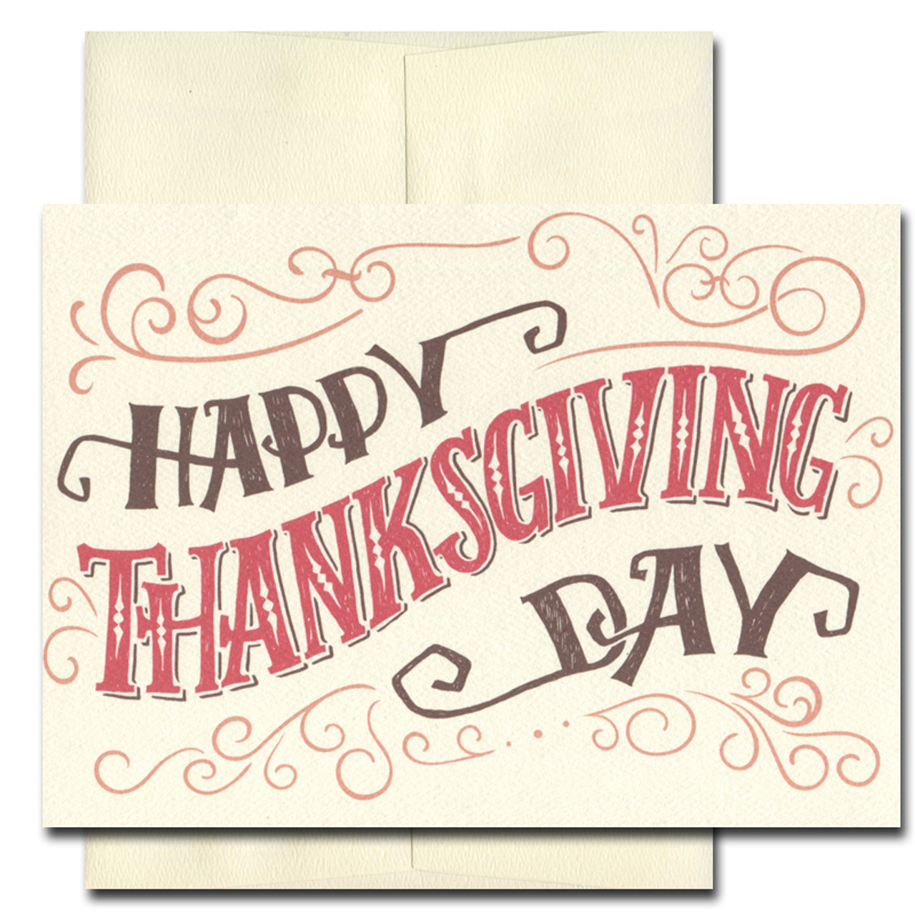 Best of the Season Thanksgiving card features a hand-lettered design