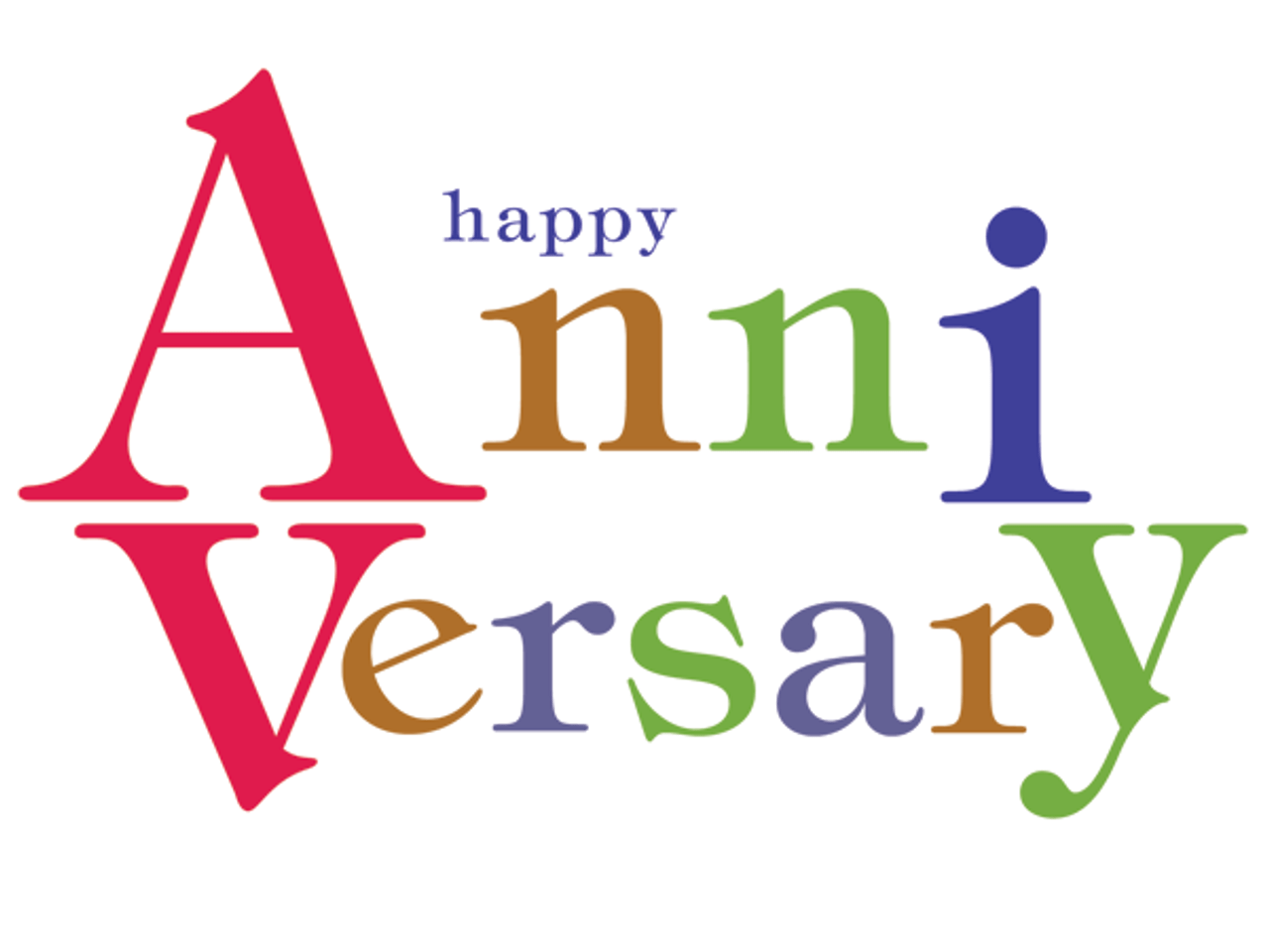Anniversary: Bold Letters