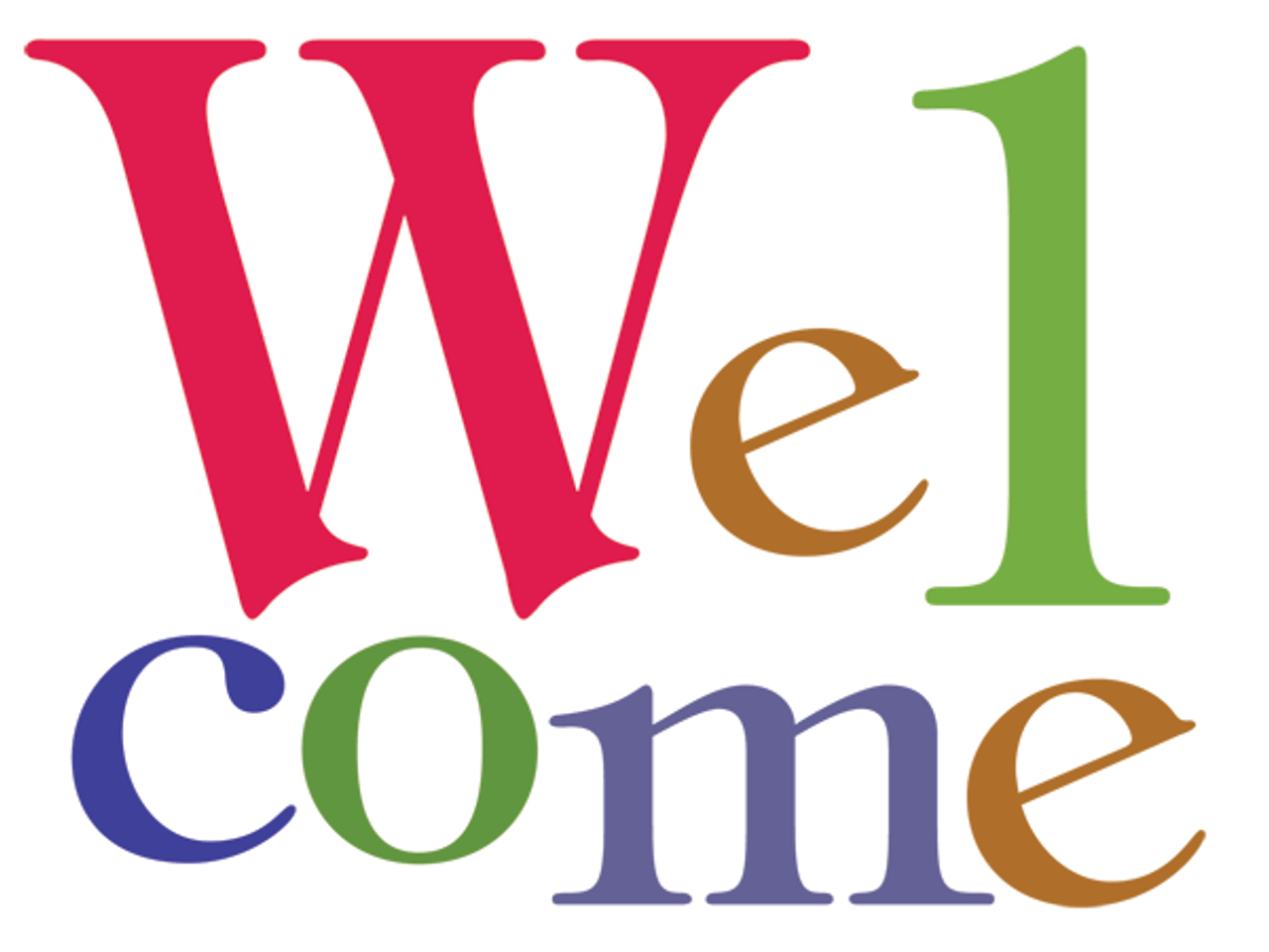 Welcome: Bold Letters