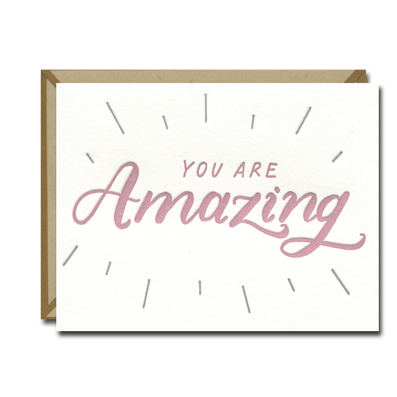 You Are Amazing Letterpress Card from Ink Meets Paper