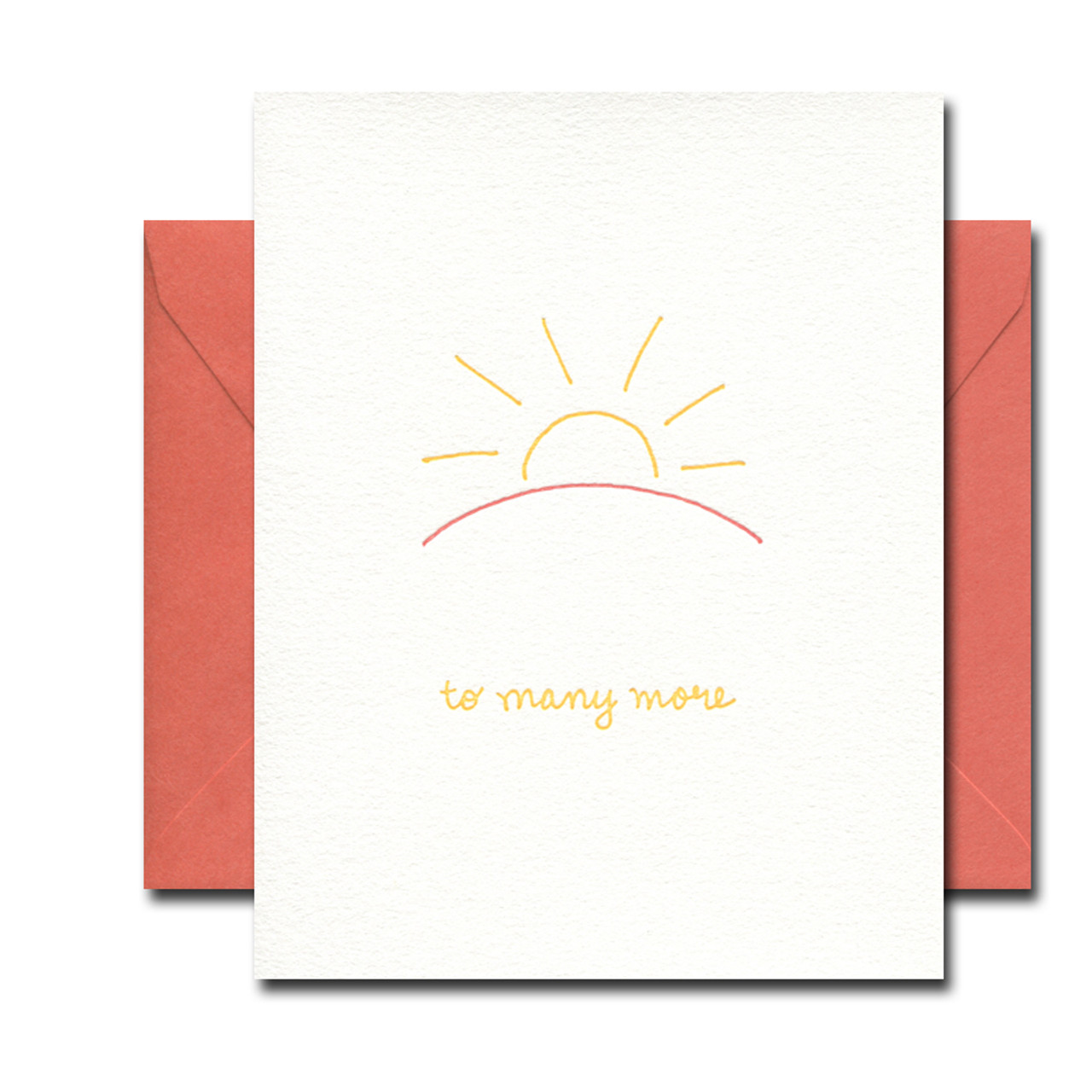 To Many More letterpress card from Albertine Press
