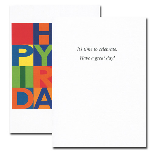 Birthday Cards: Time to Celebrate - box of 30 cards & 32  env