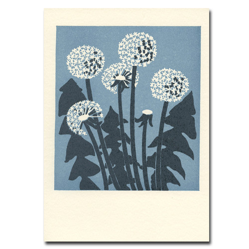Saturn Press All Occasion Card Dandelions