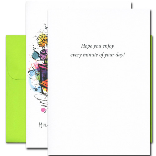 Inside of cards reads: Hope you enjoy every minute of your day!