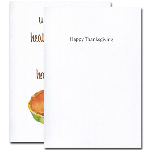 "Homemade Pie Thanksgiving Card - inside greeting reads, ""Happy Thanksgiving!"""