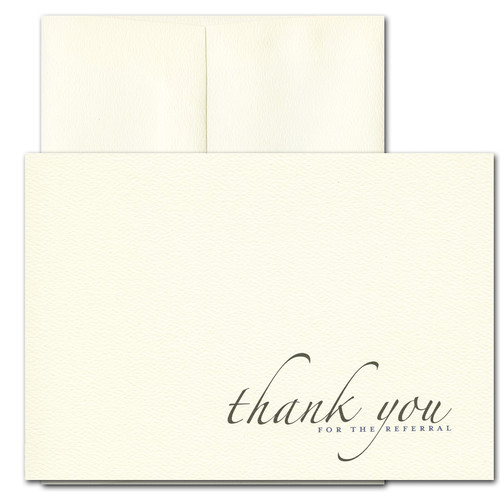Business Referral Thank You - Formal. Cover reads: Thank you for the referral