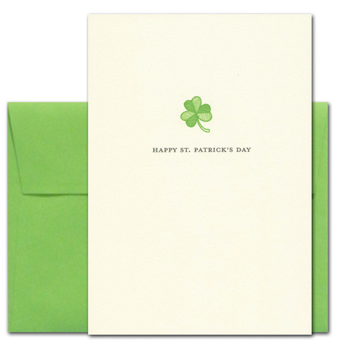 Cover of Business Saint Patrick's Day Greeting Card: Shamrock