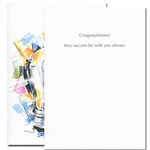 Brilliant Future card inside reads: Congratulations! May success be with you always.