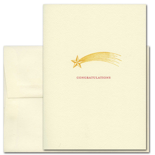 "Business Congratulations Card Shooting Star cover with Shooting Star image and ""Congratulations"""