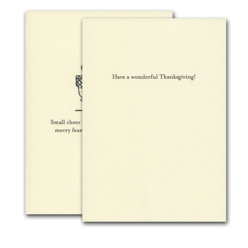 "Merry Feast - inside card greeting reads, ""Have a wonderful Thanksgiving"""