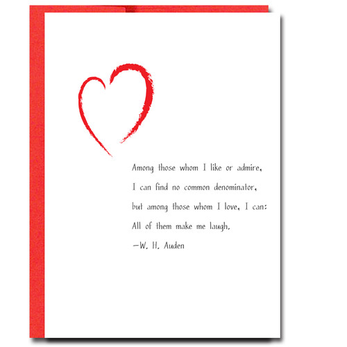 Auden: Make Me Laugh Valentine
