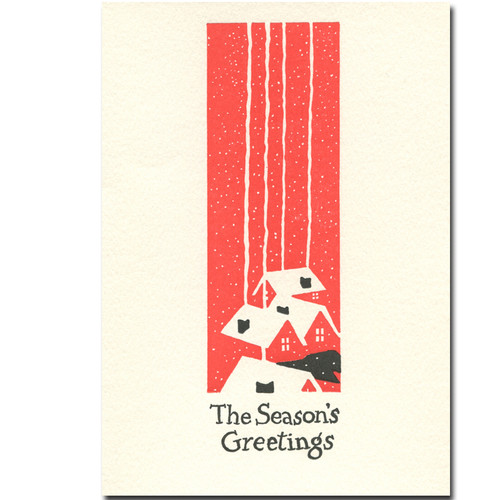 Chimneys card from Saturn Press. Cover reads: The season's greetings