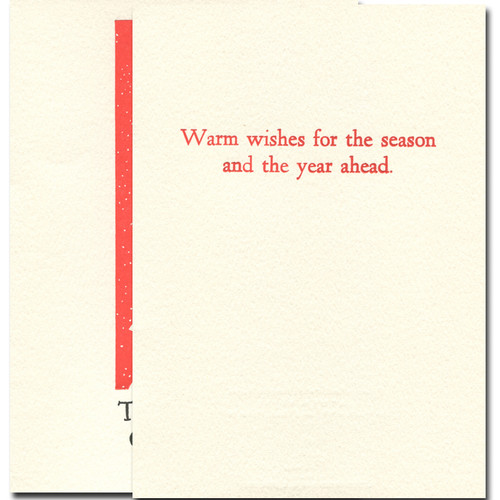 Chimneys inside reads: Warm wishes for the season and the year ahead