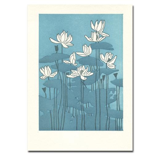 Saturn Press Letterpress Card: Water Lilies