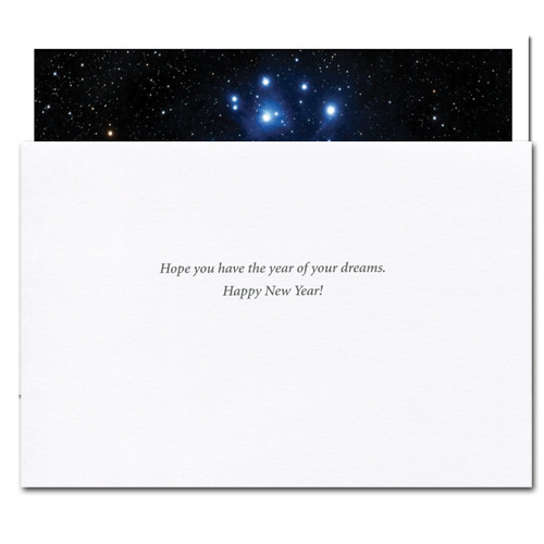 "Inside of Business New Year Card ""Sight of Stars"" reads, ""Hope you have the year of your dreams.  Happy New Year!"""