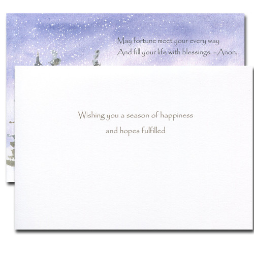 Every Way Holiday Card: inside reads: Wishing you a season of happiness and hopes fulfilled