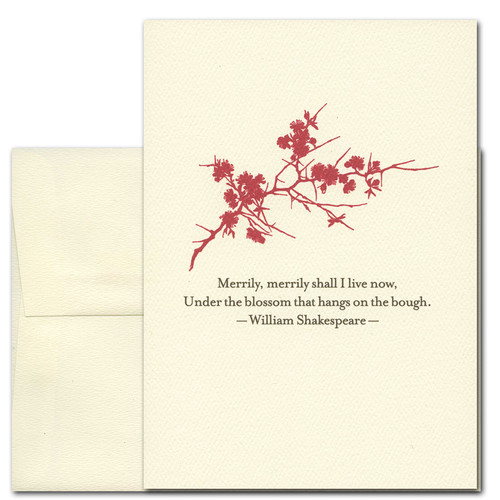 Cover of Business Springtime Greeting Card Merrily Merrily Shakespeare Quot