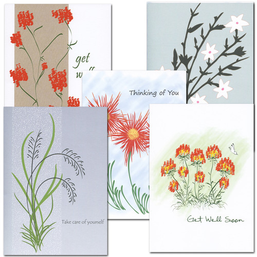 Assortment of Get Well Cards