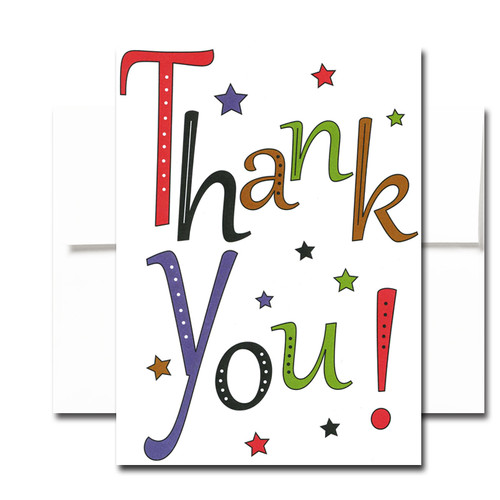 Stellar Thank You Note Card