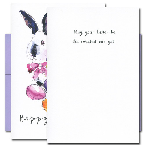 Easter Bunny card inside reads:  May your Easter be the sweetest one yet!
