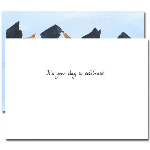 Graduation Congratulations Card - Airborne inside reads: It's your day to celebrate!