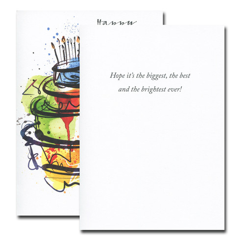Birthday Cards: Big Cake Junior - box of 30 cards & 32  env