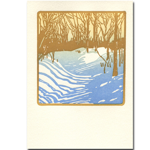 Winter Sunshine Saturn Press holiday card