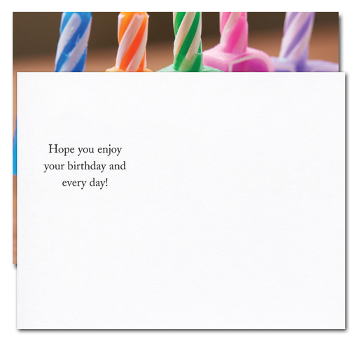 "Happy Letters Birthday Postcard greeting reads: ""Hope you enjoy your birthday and every day"""