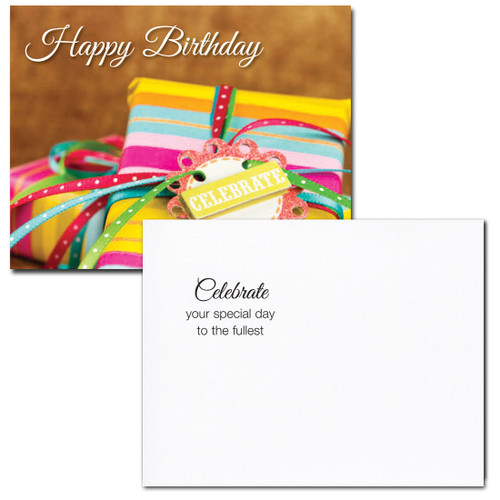 Birthday Postcard greeting reads: Celebrate your special day to the fullest