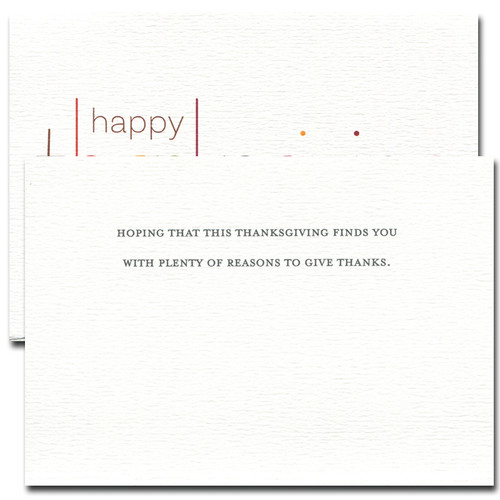 Inside reads: Hoping that this Thanksgiving finds you with plenty of reasons to give thanks
