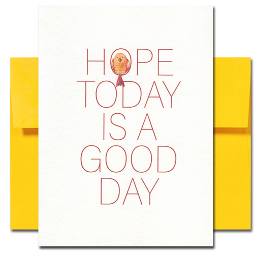 Thinking of You Card cover reads: Hope today is a good day