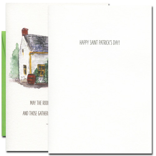 Inside of Saint Patrick's Day card reads: Happy Saint Patrick's Day!