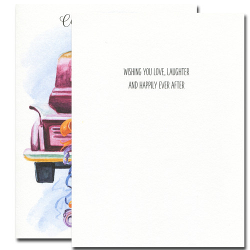 Congratulations: Happily Ever After inside reads: Wishing you love, laughter and happily ever after