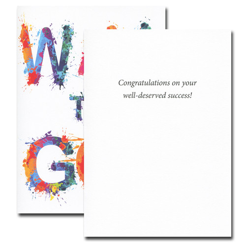 Congratulations Way to Go inside reads: Congratulations on your well-deserved success!
