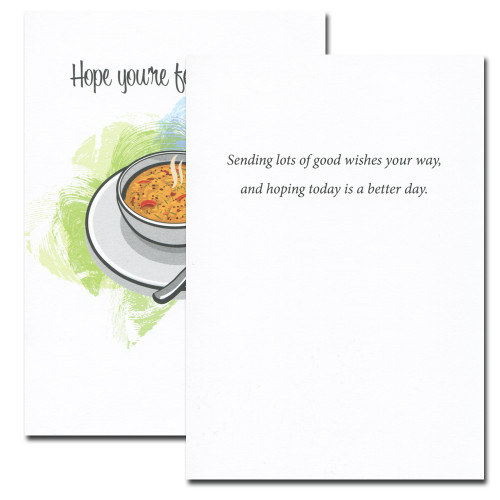 Better Day card inside reads: Sending lots of good wishes your way, and hoping today is a better day