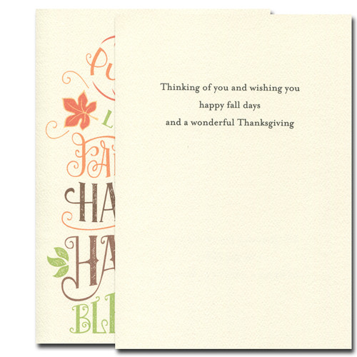 Thinking of you and wishing you happy fall days and a wonderful Thanksgiving