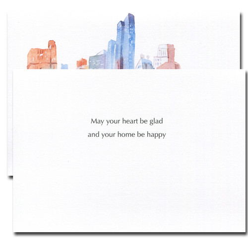City Splendor Thanksgiving card inside reads: May your heart be glad and your home be happy