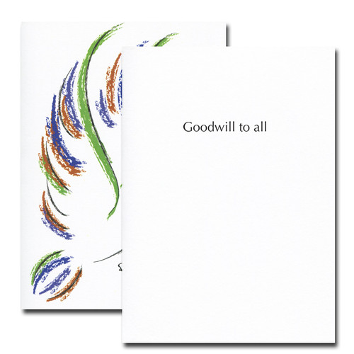 Peace Dove Holiday Card - inside reads: Good will to all
