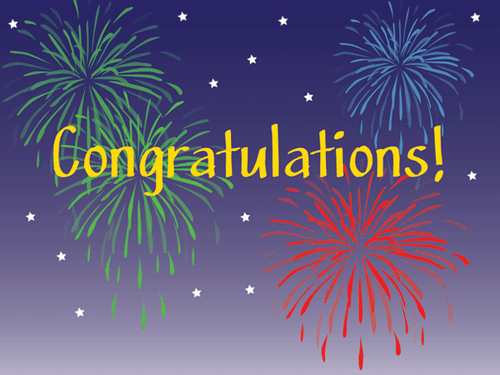 Congratulations: Fireworks