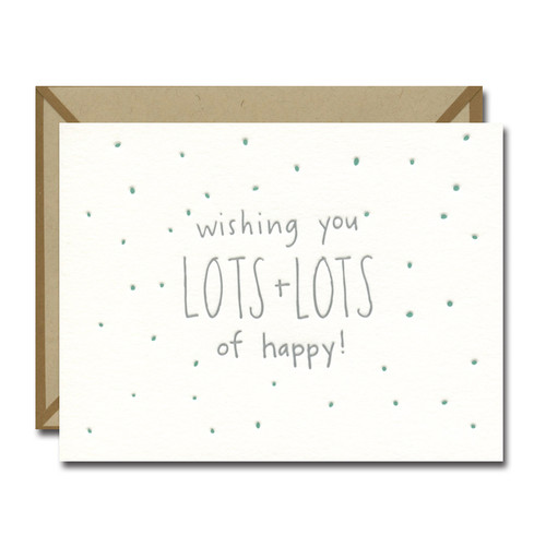 Lots of Happy Letterpress card from Ink Meets Paper