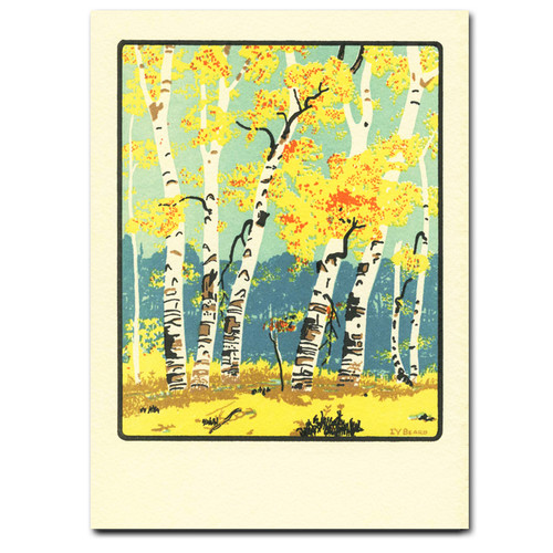 Saturn Press Card - Autumn Dunes