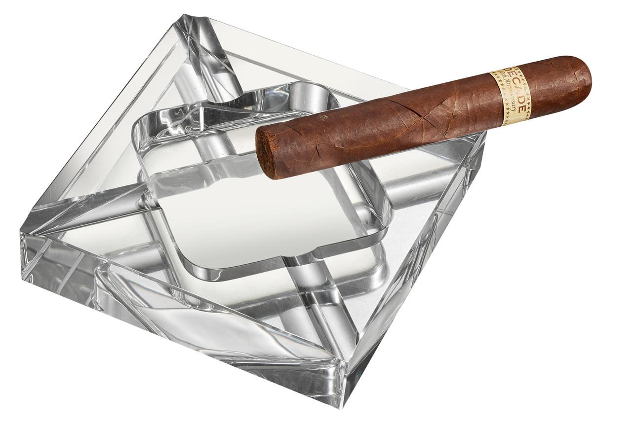 Visol Hyperion Square Crystal Cigar Ashtray Vash306 Visol